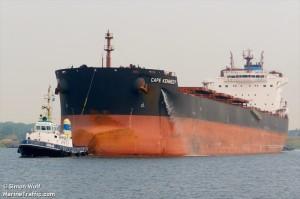 De Cypriotische bulkcarrier Cape Kennedy